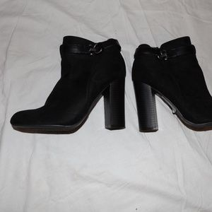 Bamboo Black Booties Size 7